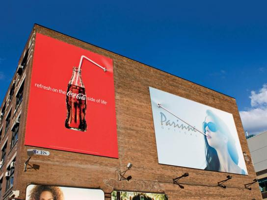 Coca-Cola Outdoor Ad -  Straw, Billboard