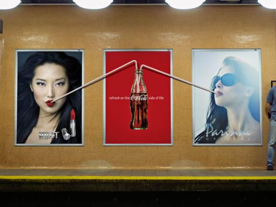 Coca-Cola Outdoor Ad -  Straw, Posters