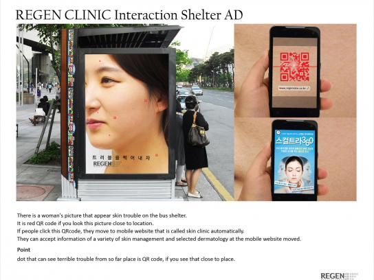 Regen Clinic Outdoor Ad -  QR Code