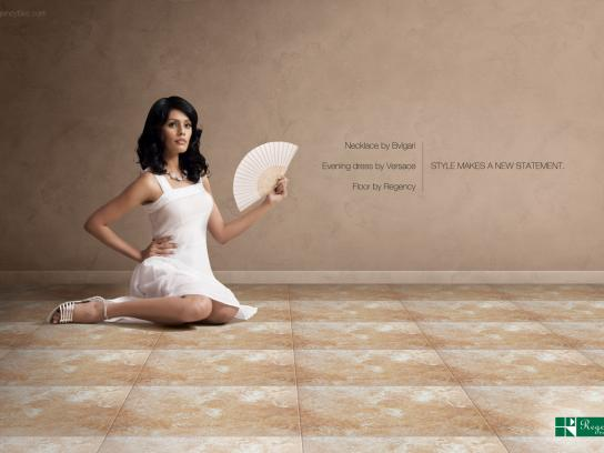 Regency Tiles Print Ad -  Style Make a New Statement, Fan
