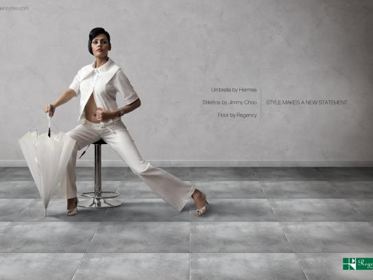Regency Tiles Print Ad -  Style Make a New Statement, Umbrella