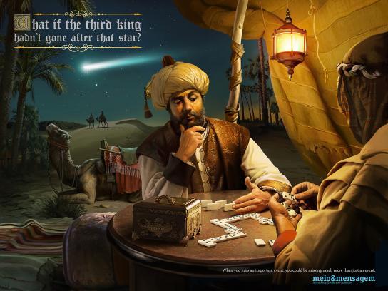 Meio e Mensagem Print Ad -  Third King