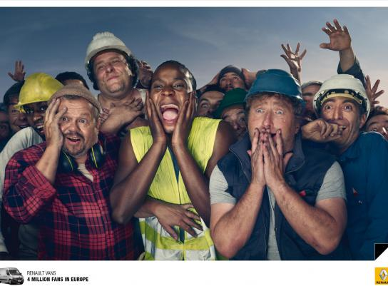 Renault Print Ad -  The fans, 2