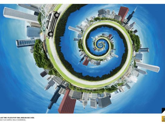 Renault Print Ad -  Angelina