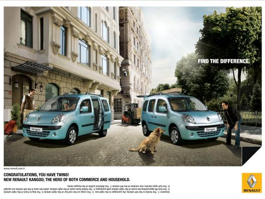 Renault Print Ad -  Spot the difference