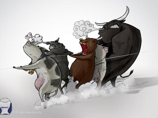 Odol-Med Print Ad -  Cows