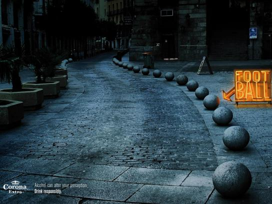 Corona Beer Print Ad -  Drink responsibly, Ball