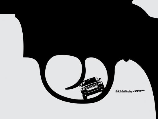 EVO Print Ad -  Bulletproof your SUV, Revolver