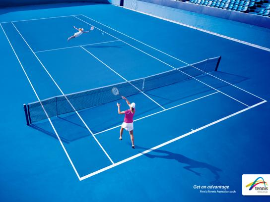 Tennis Australia Print Ad -  Coach awareness