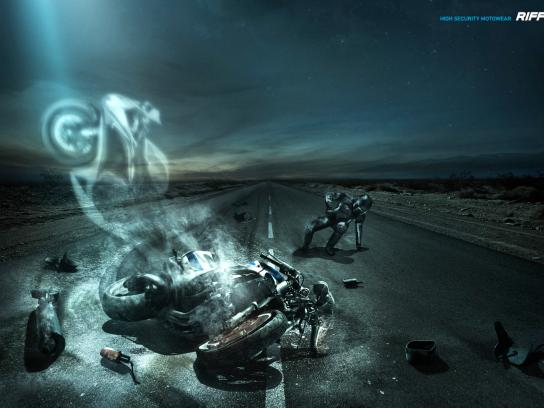 Riffel Print Ad -  Ghost Motorcycle