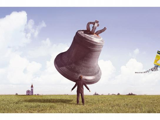 Rinogutt Print Ad -  Breathe deeply again, 1
