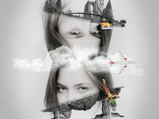 TAM Airlines Print Ad -  Rio / New York
