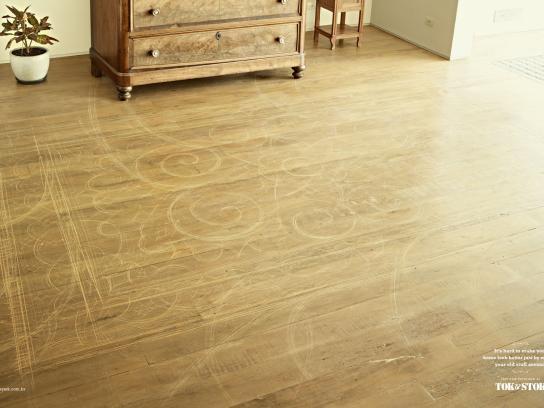 Tok&Stok Print Ad -  Scratched Floor, 2