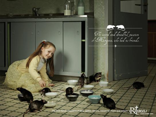 Ritual Print Ad -  Dark Kids, Rats