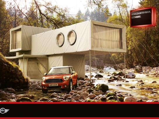Mini Print Ad -  Hut River