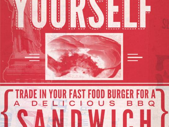 BBQ Post 401 Print Ad -  Liberate yourself