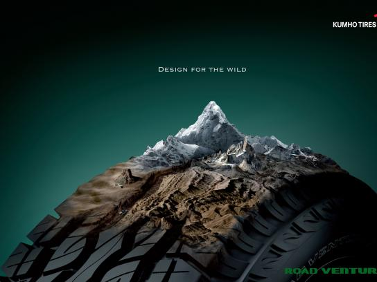 Kumho Tires Print Ad -  Design for the wild