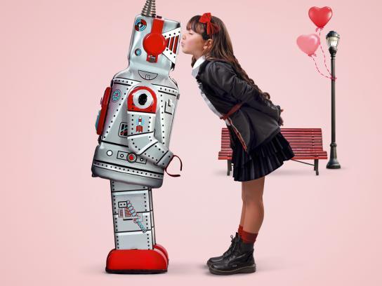 Goffo Girls Print Ad -  Robot