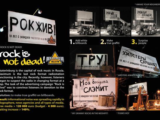 Radio Maximum Outdoor Ad -  Rock is not dead!