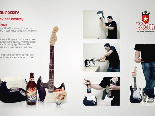 Klein Bier Direct Ad -  Drink and destroy