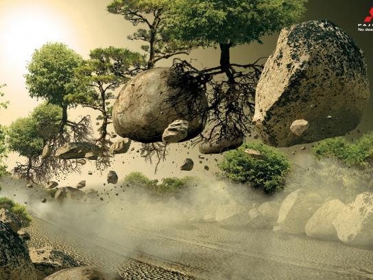 Mitsubishi Print Ad -  Rocks