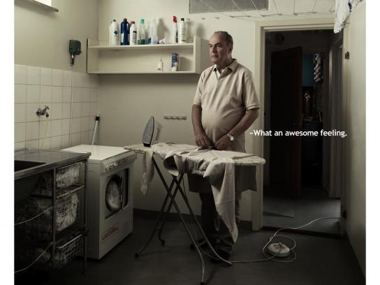 Cancerfonden Print Ad -  Rolf