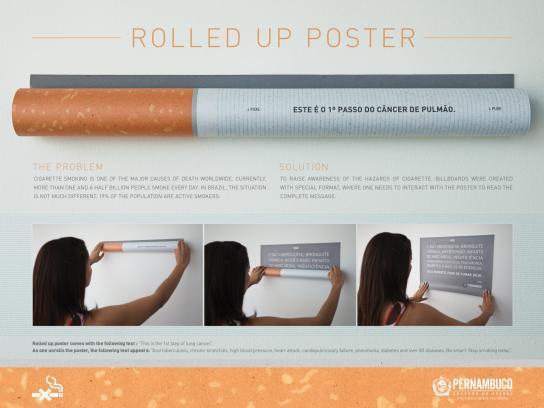 Secretaria de Saúde de Pernambuco Outdoor Ad -  Rolled up poster