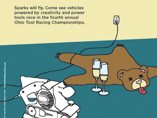 Ohio Tool Racing Championships Print Ad -  Belt Sander