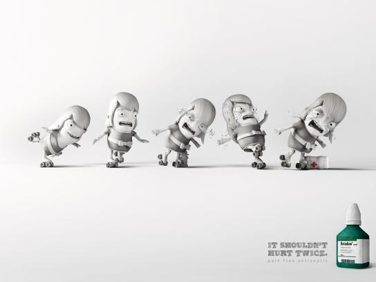 Betadine Print Ad -  Roller Skating Accident