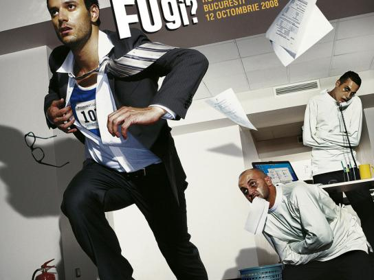 Romanian International Marathon Print Ad -  Madoffice