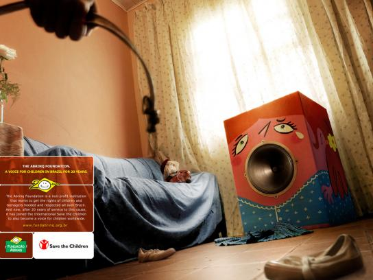 Abrinq Print Ad -  The Voice of Children in Brazil, Room