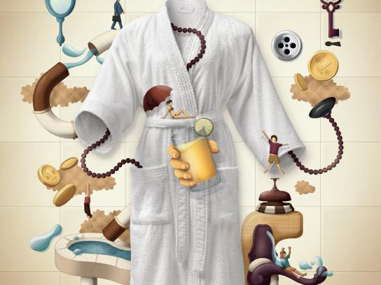 Döhler Print Ad -  Bathrobe