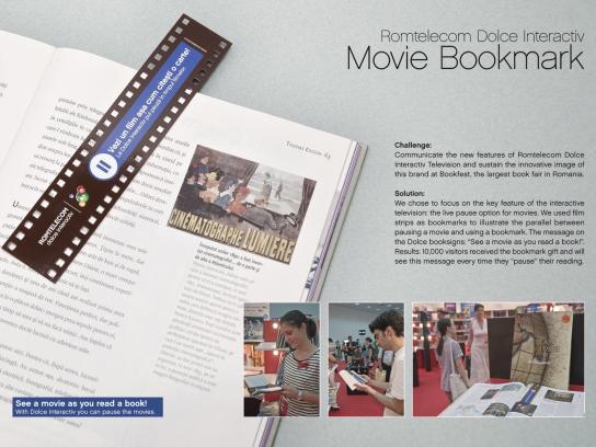 Romtelecom Direct Ad -  Movie Bookmark