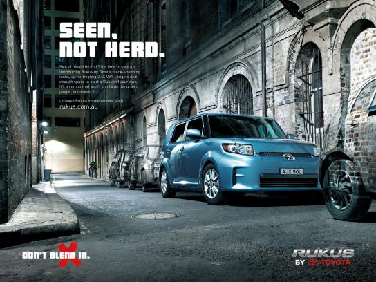 Toyota Print Ad -  Launch