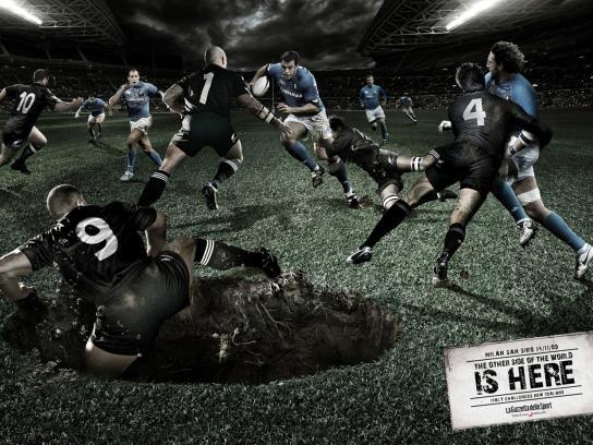 La Gazzetta dello Sport Print Ad -  Rugby - Italy vs New Zealand, 2