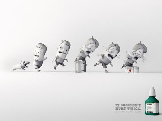 Betadine Print Ad -  Running Accident