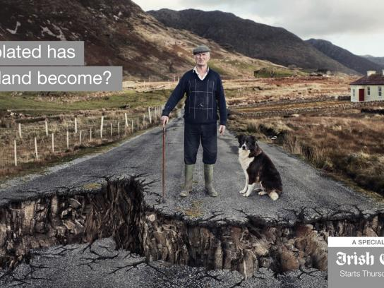Irish Examiner Outdoor Ad -  Rural Isolation
