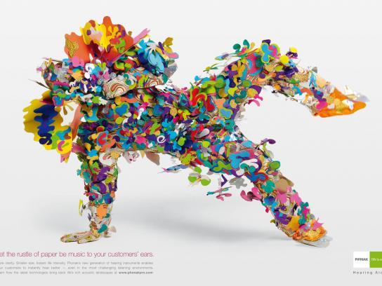 Phonak Print Ad -  Spice, Rustle of Paper