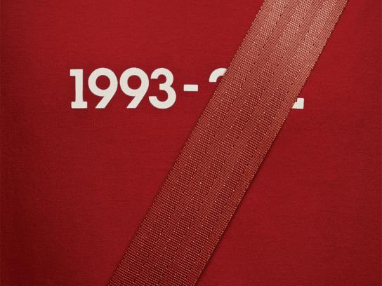 Quebec Automobile Insurance Society Print Ad -  Seatbelts, Red