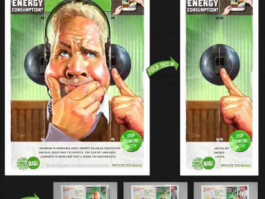 Engage the brain Print Ad -  Switch off unused lights