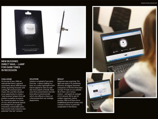 Saatchi & Saatchi Direct Ad -  Lamp