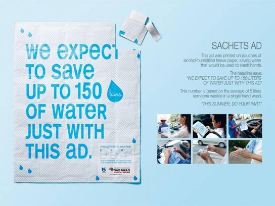 Sabesp Direct Ad -  Sachets