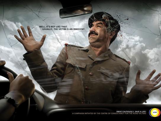 CCVR Print Ad -  Road Saddam