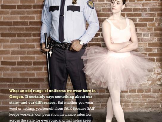 SAIF Print Ad -  Ballerina