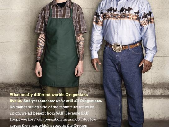 SAIF Print Ad -  Cowboy