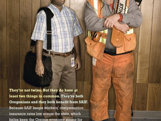 SAIF Print Ad -  Worker