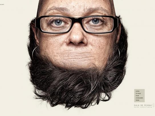 Sala de Pesquisa Print Ad -  Heads, 1