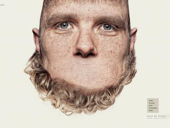 Sala de Pesquisa Print Ad -  Heads, 2