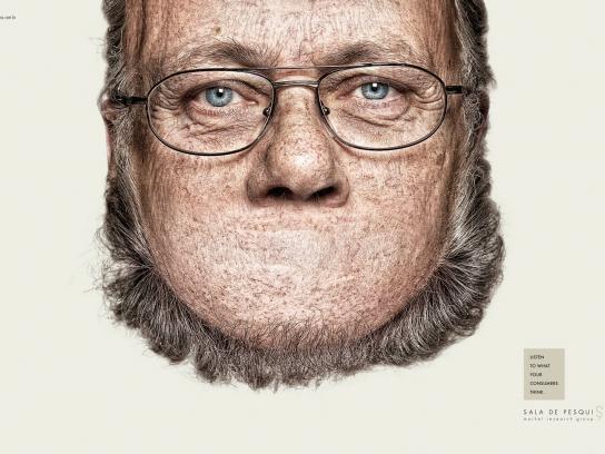 Sala de Pesquisa Print Ad -  Heads, 3