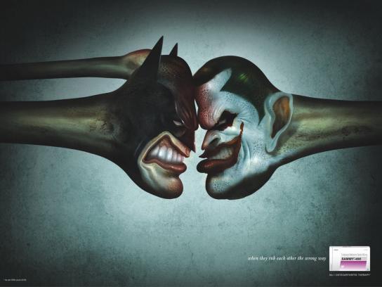 Sammy-400 Print Ad -  Batman vs Joker